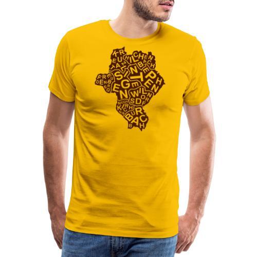 Siegerlandkarte - Männer Premium T-Shirt