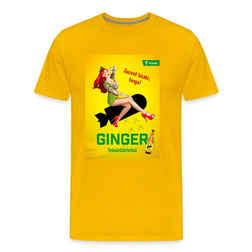 Ginger - Miesten premium t-paita