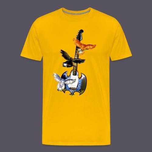 fliegende Gitarre - Männer Premium T-Shirt