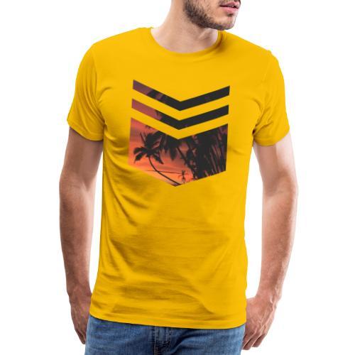 Palm Beach Triangle - Männer Premium T-Shirt
