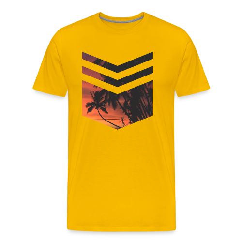 Palm Beach Triangle - Männer Premium T-Shirt