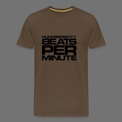 160 BPM (musta typo) - Miesten premium t-paita