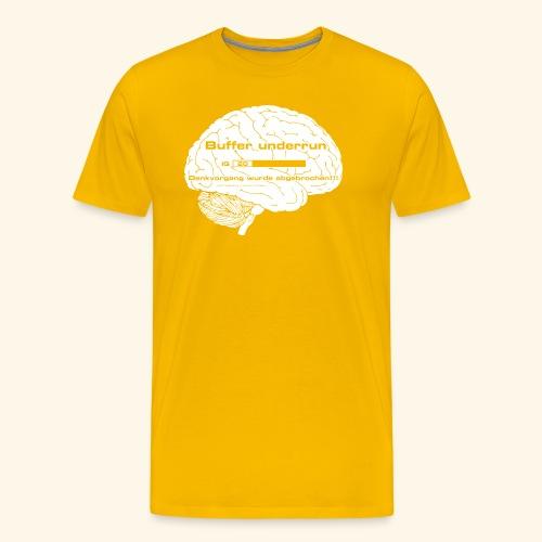 Buffer underrun - Denkvorgang abgebrochen - Männer Premium T-Shirt