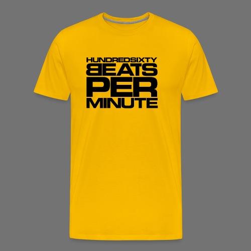 160 BPM (sort stavefejl) - Herre premium T-shirt