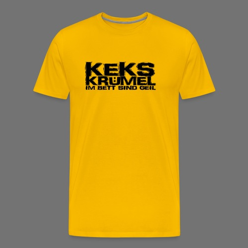Kekskrümel im Bett sind geil (schwarz) - Männer Premium T-Shirt