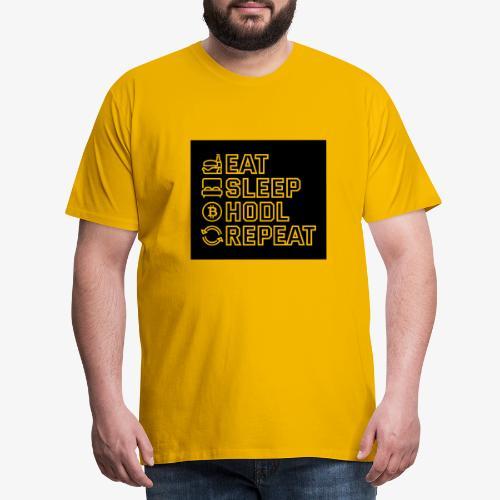 Eat Sleep Hodl Repeat negativ black - Männer Premium T-Shirt