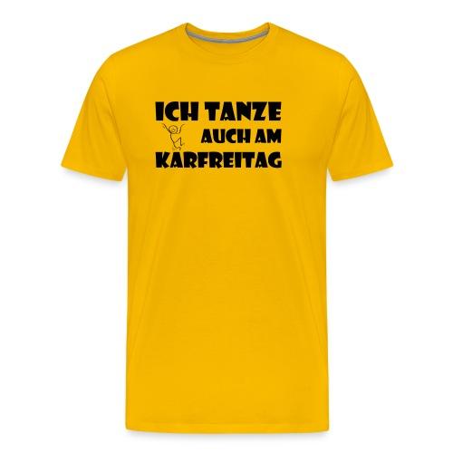 tanzschwarz png - Männer Premium T-Shirt