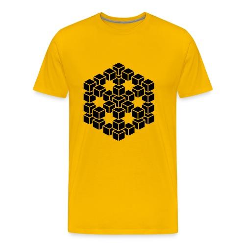 kubus 3D - Mannen Premium T-shirt