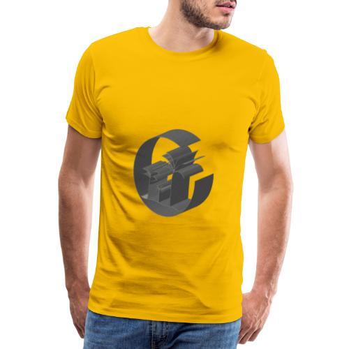 3D Miami Palm Trees Badge - Men's Premium T-Shirt
