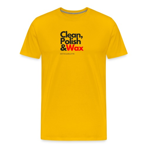 Clean,polish en wax - Mannen Premium T-shirt