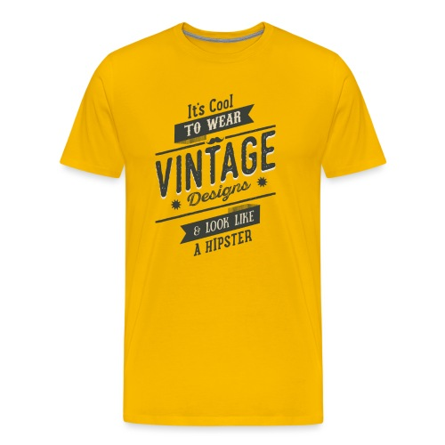 Vintage Design dark - Men's Premium T-Shirt
