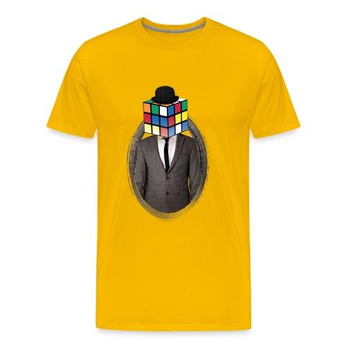 Rubik's Cube Portrait - Premium-T-shirt herr