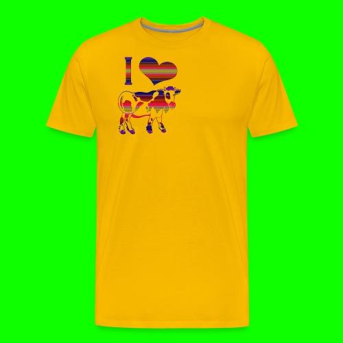 i love cow - Premium-T-shirt herr