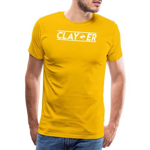 LOGO CLAYZER BLANC - T-shirt Premium Homme