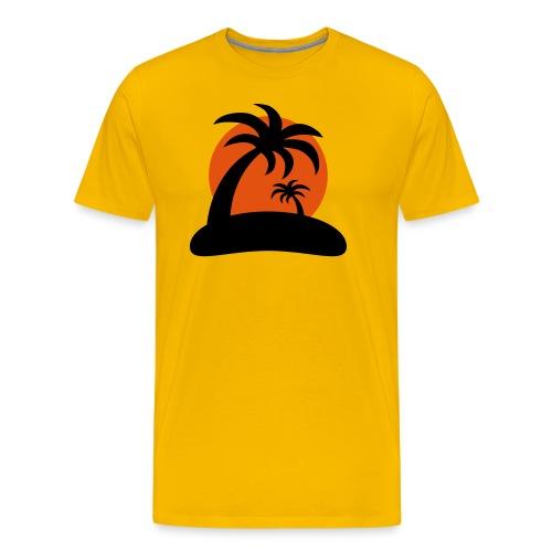 palm island sun - Mannen Premium T-shirt