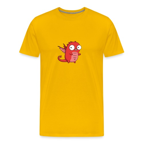 Dragon Gopher Go Golang - Männer Premium T-Shirt
