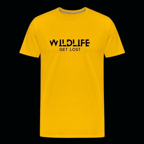 SCRITTA WILDLIFE - Maglietta Premium da uomo
