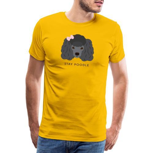 Poodle Black - Maglietta Premium da uomo