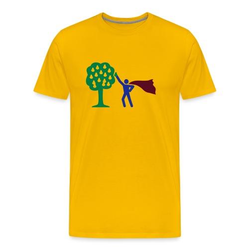 birnen pflücken HEH 3 farb vektor - Männer Premium T-Shirt