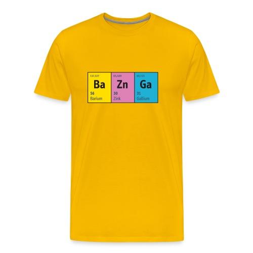 Periodensystem BaZnGa Nerd Geek Big Bang Urknall - Men's Premium T-Shirt