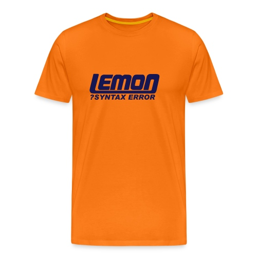 lemon logo syntax error - Men's Premium T-Shirt