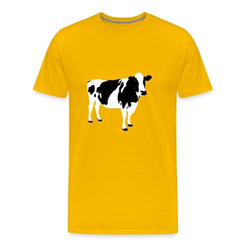 COW PIXEL - Herre premium T-shirt