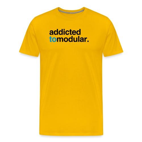 Addicted to Modular Blue - Men's Premium T-Shirt