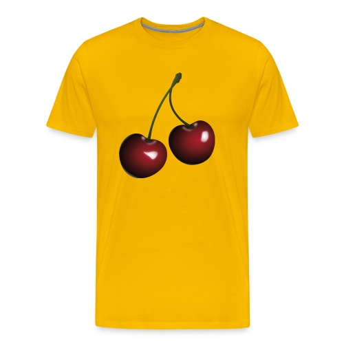 Körsbär - Premium-T-shirt herr