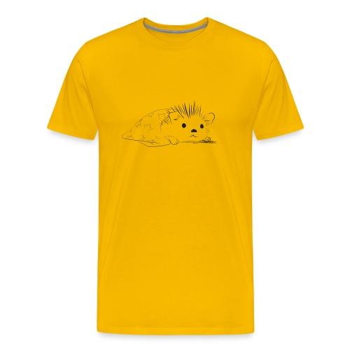 Porcospino carino che riposa nella copertina - Maglietta Premium da uomo