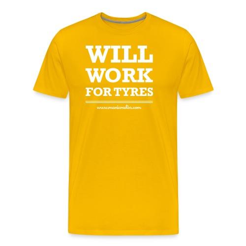 Will Work For Tyres v2 - Men's Premium T-Shirt
