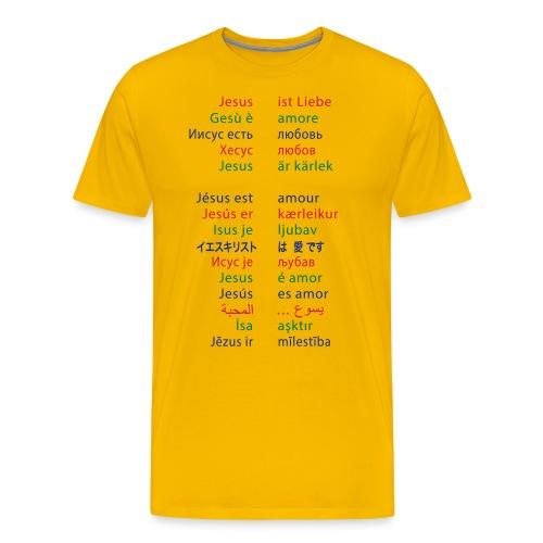 Jesus ist Liebe – in 15 Sprachen - Männer Premium T-Shirt