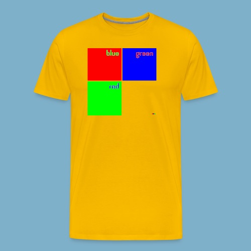 Fundago Color Motiv - Männer Premium T-Shirt