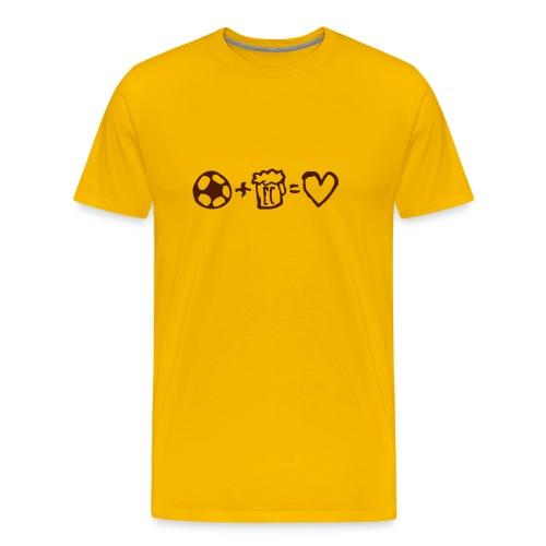 football+beer=love - Premium-T-shirt herr