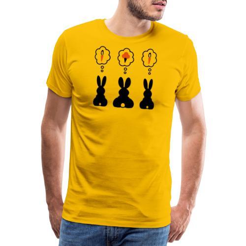 Hasen Denkblase Möhre Karotte Eis Häschen - Männer Premium T-Shirt