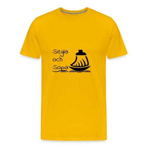 Segla och sopa Black - Men's Premium T-Shirt