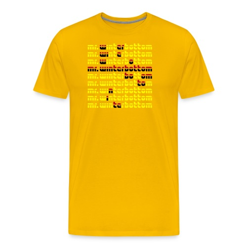 Logo3FarbenWallUP - Männer Premium T-Shirt