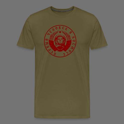 Czerwony kosmonauta 1c - Koszulka męska Premium