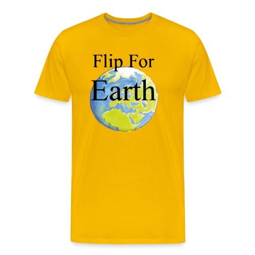 Flip For Earth T-shirt - Premium-T-shirt herr