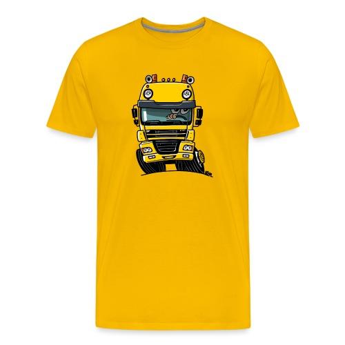 0810 D truck CF geel - Mannen Premium T-shirt
