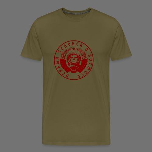 Cosmonaut 1c red - Men's Premium T-Shirt