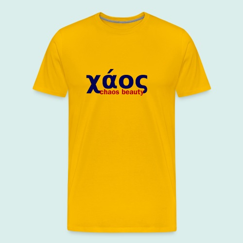 chaos in greek limited - Men's Premium T-Shirt