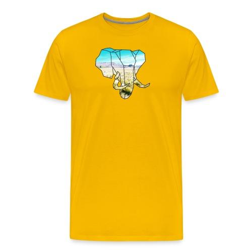 Elefant mit Steppe - Männer Premium T-Shirt
