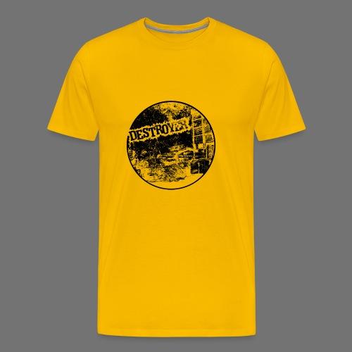 Destroyer musta - Miesten premium t-paita