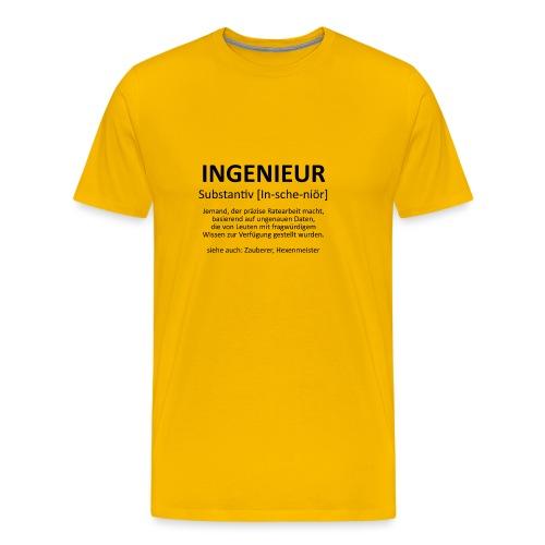 Ingenieur - Substantiv In-sche-niör (schwarz) - Männer Premium T-Shirt