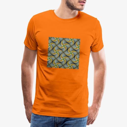 Design motif jaune vert gris - T-shirt Premium Homme