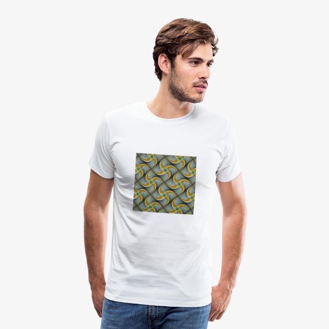 Design motif jaune vert gris