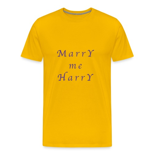 Marry me Harry (violet) - T-shirt Premium Homme