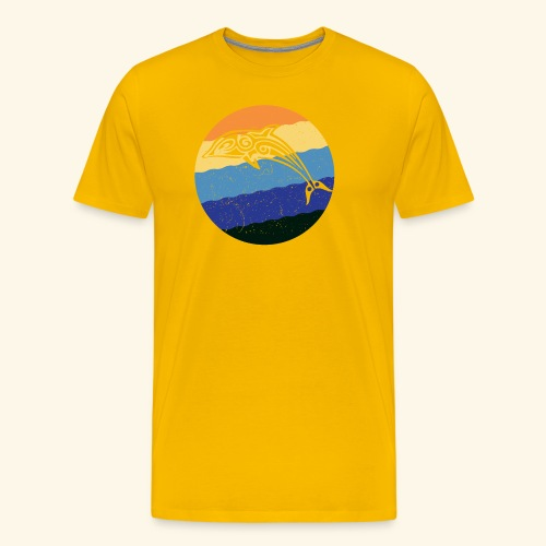 Greek Dolphin Retro - Men's Premium T-Shirt