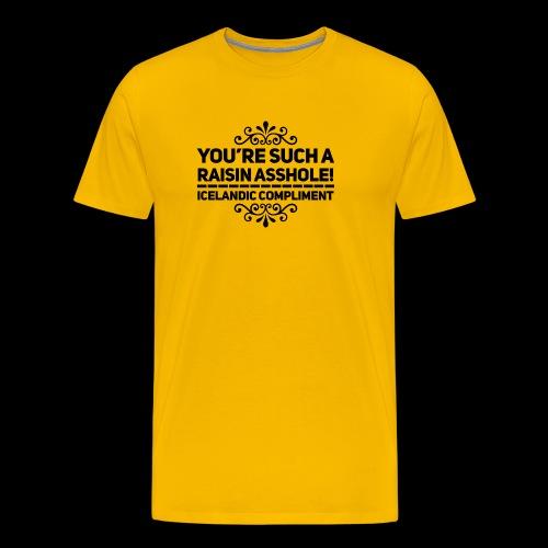 Raisin Asshole - Premium-T-shirt herr