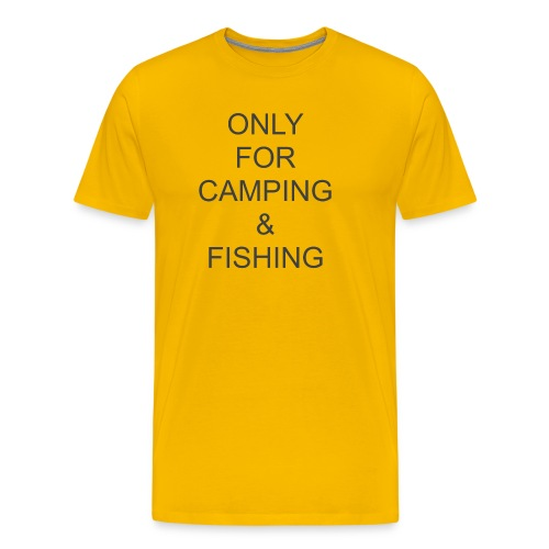 Camping & Fishing - Men's Premium T-Shirt